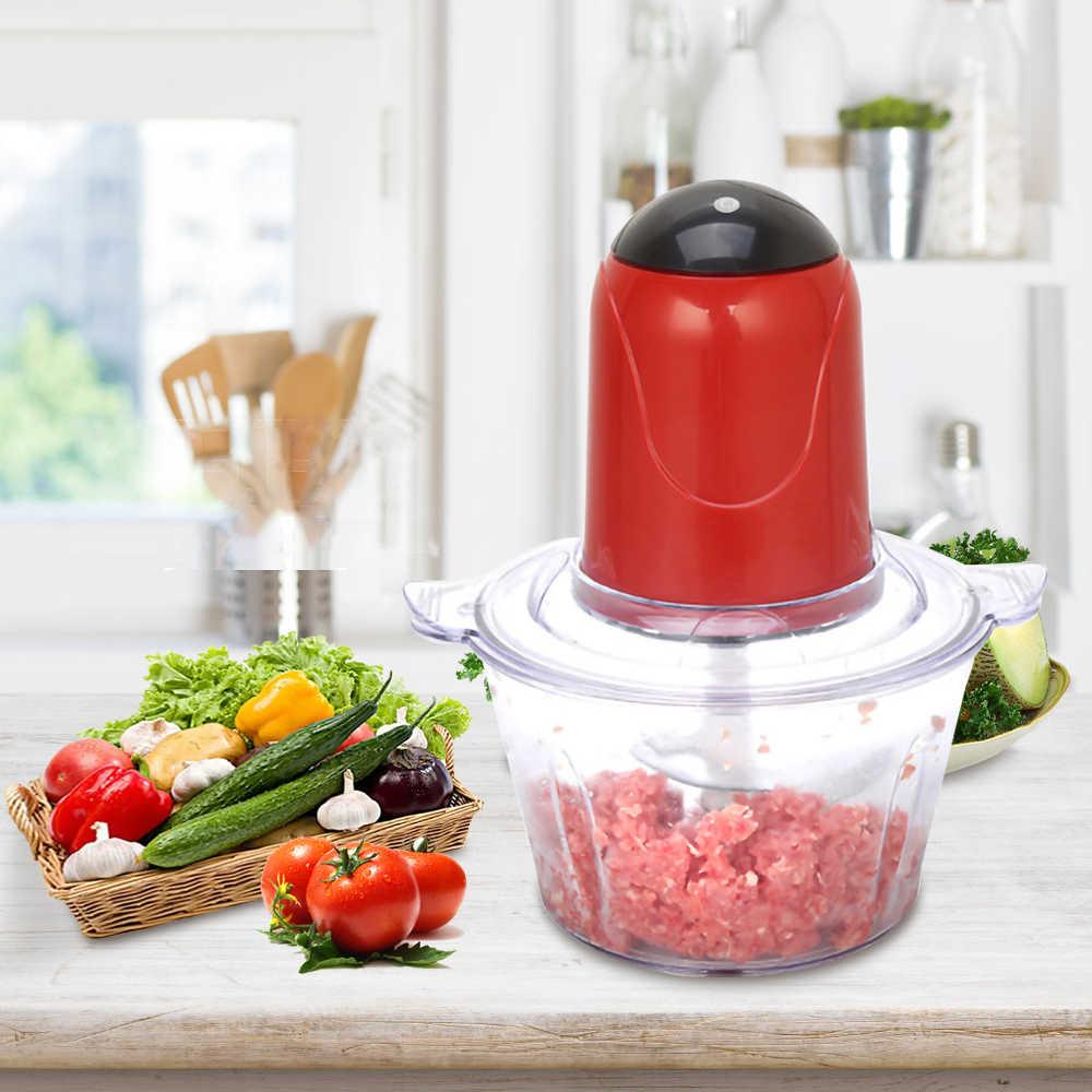 2l automático poderoso moedor de carne multifuncional processador alimentos elétrico liquidificador elétrico chopper cortador carne slicer ue