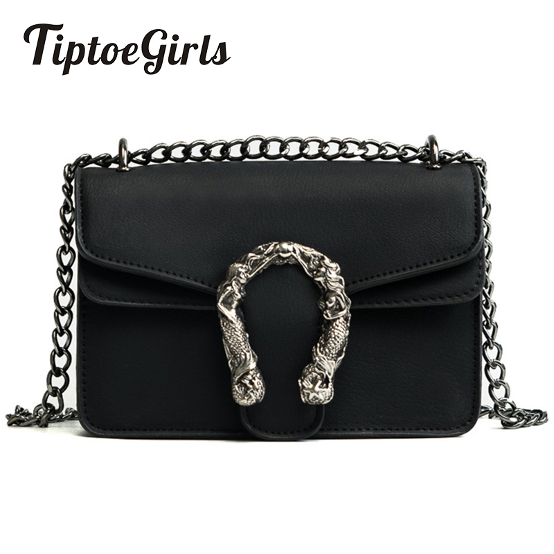 Tiptoegirls Fashion Women Bags New Design Girls Shoulder Bags Diagonal Quality Leather Lady Handbags Vintage Chains