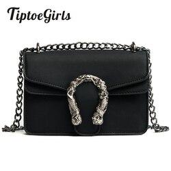 Tiptoegirls Fashion Women Bags New Design Girls' Shoulder Bags Diagonal Quality Leather Lady Handbags Vintage Chains Small Bag