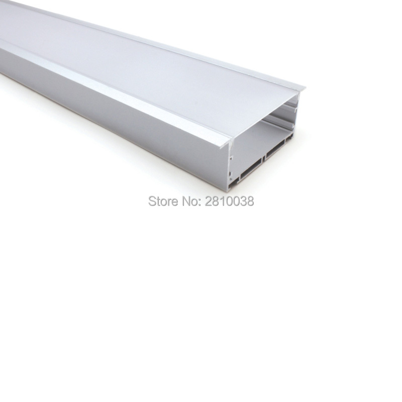 30 X 2M Sets/Lot New developed led profile 90 mm wide T type aluminium led channel housing for ceiling embedded lamp 50 x 2m sets lot office lighting led profile housing 75 mm tall u type led aluminum extrusion for suspension lights