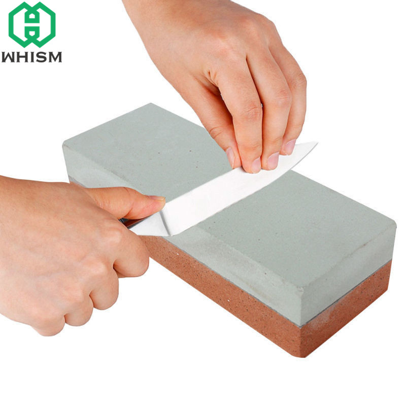 WHISM Mini Professional Sharpening Stone 400/1500 Grit Dual Dubbelsidiga Knivar Sharpener Wetstone Knife Water Stone Kitchen Tool