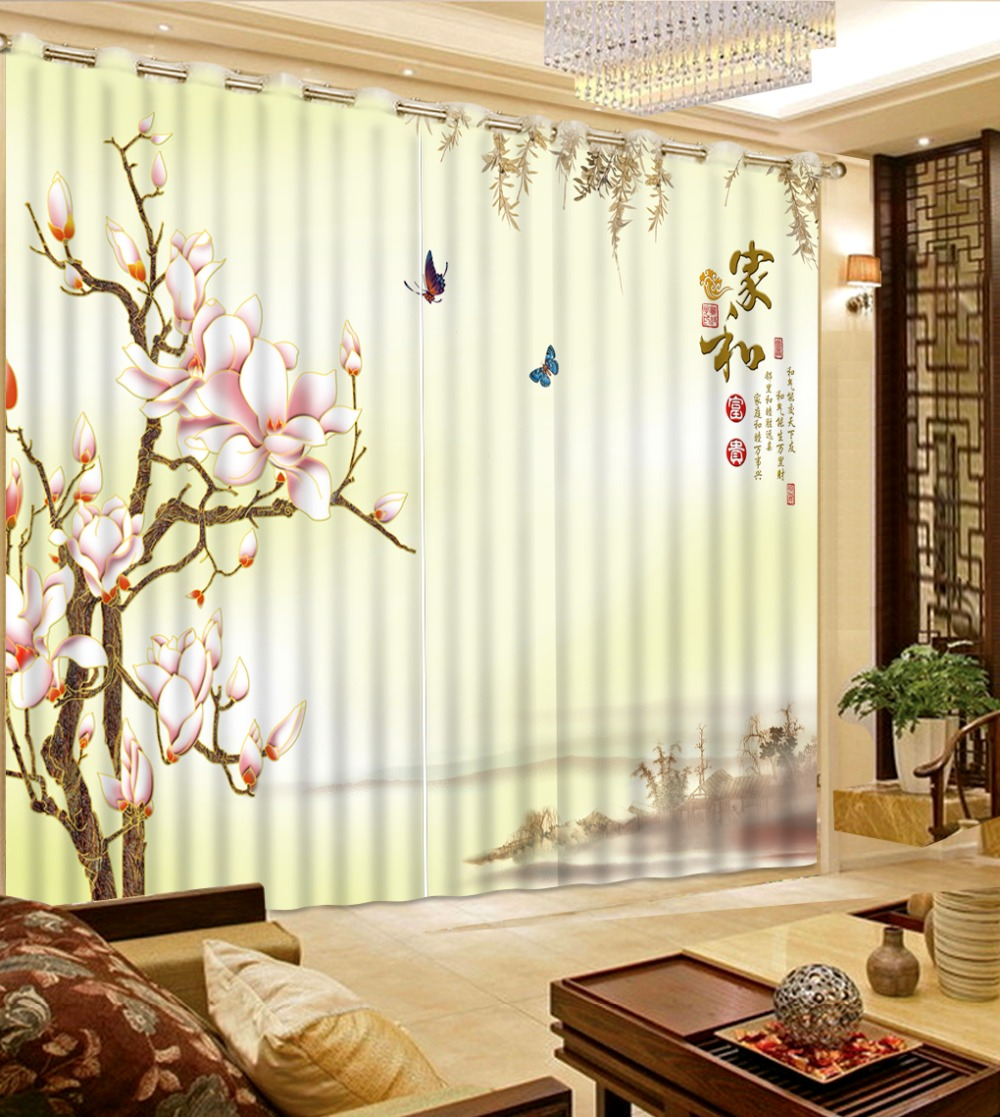 Retro Simple Style 3d Curtains Modern Butterfly Squid Luxury Curtains Valance Curtains For Bedroom 3d Photo