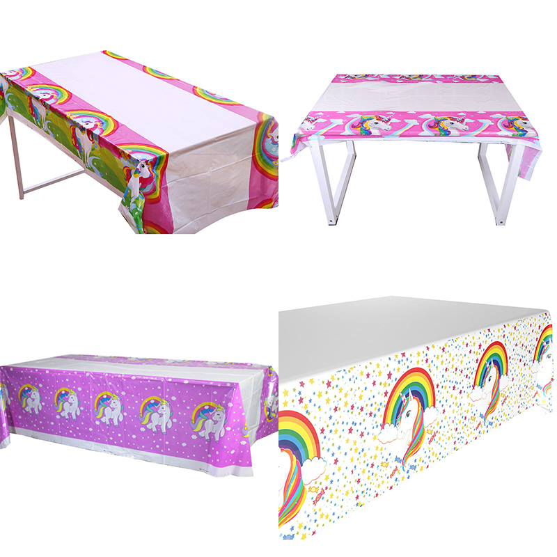 Rainbow Themed Tablecloth Unicorn Tablecover Rainbow Tablecloth Unicorn Party Supply Rainbow Birthday Party Supplies