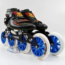 SImmons inline speed skates black Color inline speed skating shoes carbon skates inline skates 4*120mm inline wheels roller skat