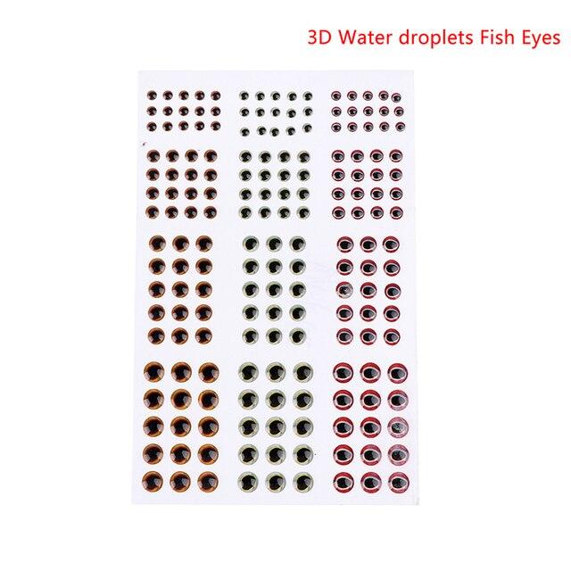 183 pièces/72 pièces holographique 2D 3D 4D 5D yeux de poisson pour mouche attachant banderoles Baitfish bois plastique leurre Popper bricolage yeux