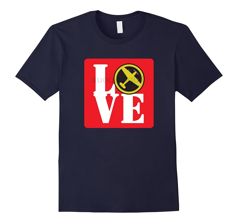 Love Hawker Hurricane II RAF Fighter Jet Airplane T-Shirt