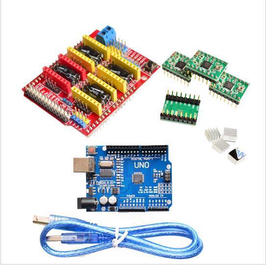 V3.0 grabador CNC escudo + placa + A4988 Motor paso a paso de los conductores para UNO R3 para Arduino