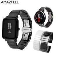 Zegarek ceramiczny dla Huami Amazfit Bip pasek dla Amazfit tempo Stratos bransoletka GTR GTS dla zegarek huawei Gt Honor magiczny pasek