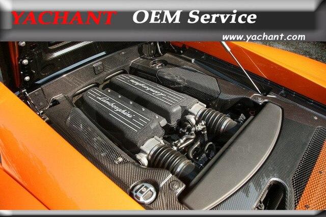 Car Styling Auto Accessories Dry Carbon Fiber Engine Bay Trim Fit