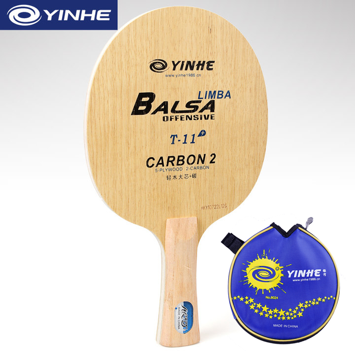 Galaxy YINHE T-11+ (T-11 Plus, Super Light, Carbon, With A Bag) Table Tennis Blade ( 5+2 Carbon) T11 Racket Ping Pong Bat Paddle
