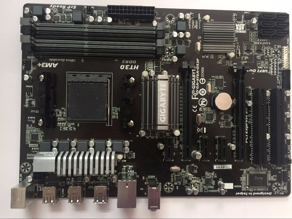 Gigabyte GA 970A DS3P original motherboard Socket AM3 AM3 DDR3 970A DS3P boards 32GB Desktop Motherboard