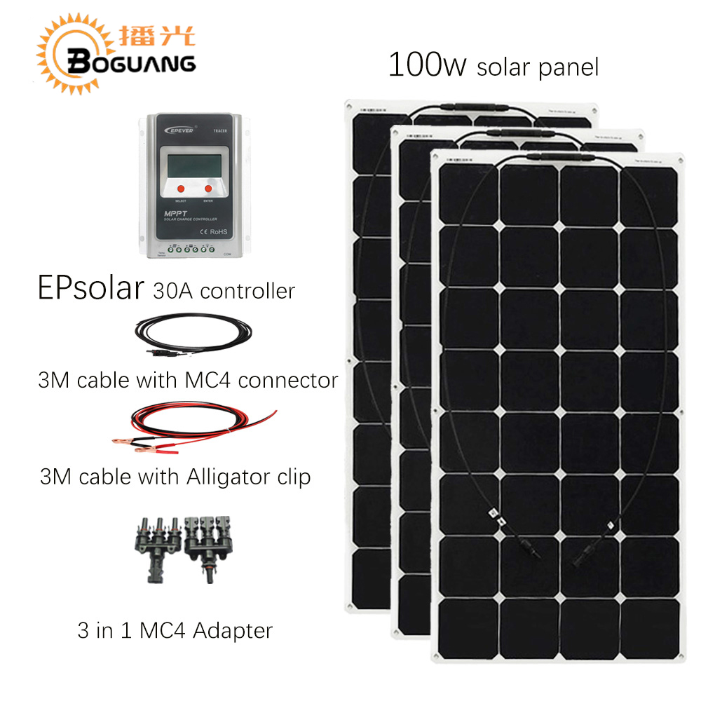 Aliexpress Com Buy Boguang 3pcs 100w Flexible Solar