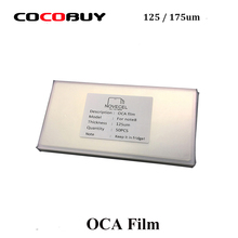 Novecel 50pcs 175/125um OCA Optical Clear Adhesive For S6 S7 Edge S8 S8+ Note8 Mitsubishi Glue LCD Touch Glass Lens Film