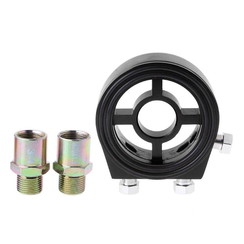 Universal Car 1 8 NPT Aluminum Oil Filter Cooler Sandwich Adapter Plate Kit