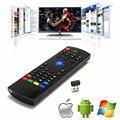 2.4G Sem Fio Teclados Completos Air Mouse Controle Remoto para Android TV caixa Tablet Mini PC IPTV Fly Air Mouse MX3 Mini Teclado