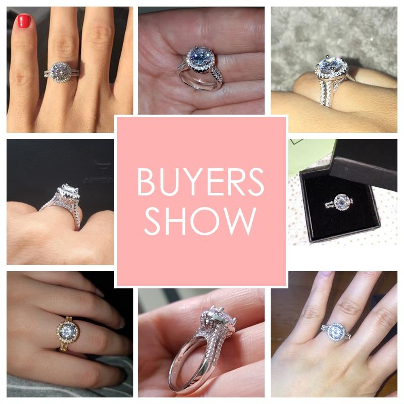 Hot koop Fashion Luxe Vrouwen Engagement Sieraden 925 sterling Zilver - Mode-sieraden - Foto 3