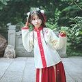 2016 зима женщины китайский древней династии тан цветочные hanfu ruqun шифон dress costume