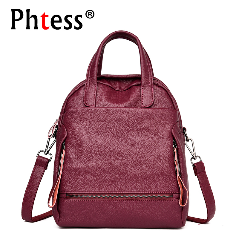 2019 Multifunction Backpacks For Girls Sac a Dos Female Leather Large Capacity Travel Backpack Vintage Rucksacks Ladies Mochilas2019 Multifunction Backpacks For Girls Sac a Dos Female Leather Large Capacity Travel Backpack Vintage Rucksacks Ladies Mochilas
