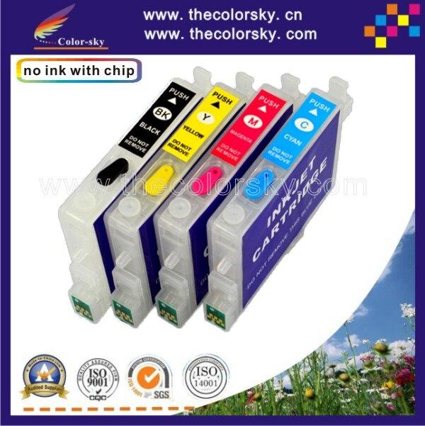RCE1001-1004) многоразовый картридж для Epson T1001 T1002 T1003 T1004 100 BK/C/M/Y B40W BX600FW BX610FW dhl
