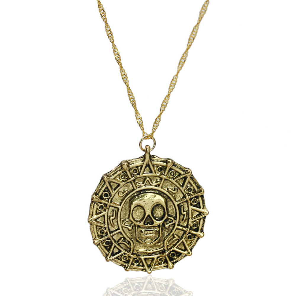 pirates of the caribbean necklace skull man necklace bijoux collier femme skull necklace man. Black Bedroom Furniture Sets. Home Design Ideas