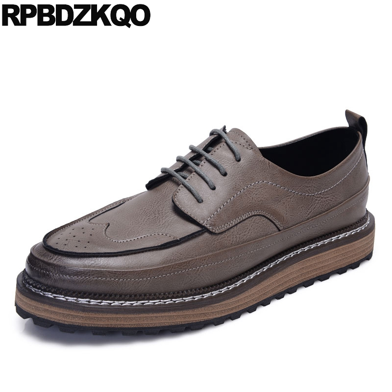 Oxfords Brogue Creepers New Men Shoes Casual Fashion Wingtip Solid European Hot Sale Stylish Autumn Spring Popular stylish european autumn