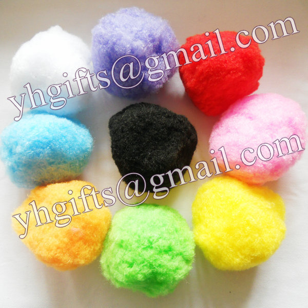 100PCSLOT.6cm Pompoms,Big pom-pom,Craft material,Doll accessories,Hat ornament.Handmade toys,9 Color,Freeshipping.Wholesale.