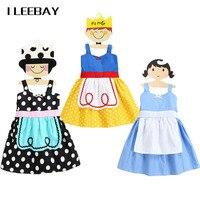 Vendita calda Ragazze Snow White Dress Principessa Vestito Da Partito di Halloween Bambino Alice Dot Operato da Cosplay Costume Bambini Bello Cablaggio Vestiti