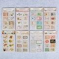 16 шт/1 пакет милые животные флаг пост штамп стикер s мини липкие бумажные блокноты для скрапбукинга штамп стикер для канцелярских товаров - фото