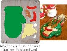Рождественские чулки с высечкой и деревянными штампами подходят /// Scrabooking
