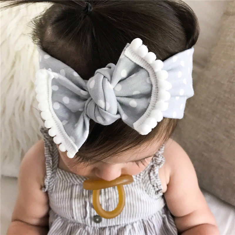 2018 Baby Headband Polka Dots Bow Tie Head bands Children Kids Elastic Hair bands Turban Knot Headwrap Infants Hair Accessories все цены