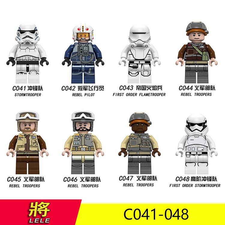 Star Wars Rebel Pilot/Rebel Troopers DIY Toy Figure Building Blocks Figure Bricks Compatible With Bela