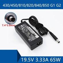 Adaptador AC do laptop DC Carregador Porta do Conector do Cabo Para HP PROBOOK 430/450/810/820/840 /850 G1 G2 19.5 V 3.33A 65 W