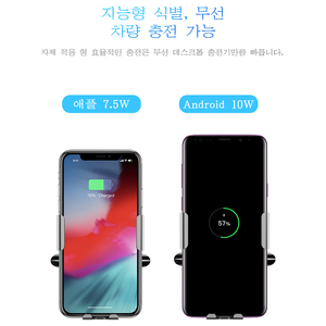 Image 3 - Baseus 10W Qi Car Wireless Charger For Samsung S10 iPhone X Intelligent Infrared Sensor Fast Wireless Charging Car Phone Holder