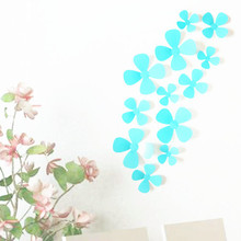 New arrival 12pcs 3d flower wall decor flowers wall stickers home decor