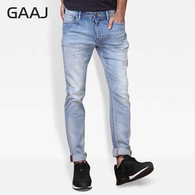 4e105b87e6 Profesional tienda de JEANS hombre Jeans pantalones largos clásicos alta  elástico Skinny jeans para hombre marca