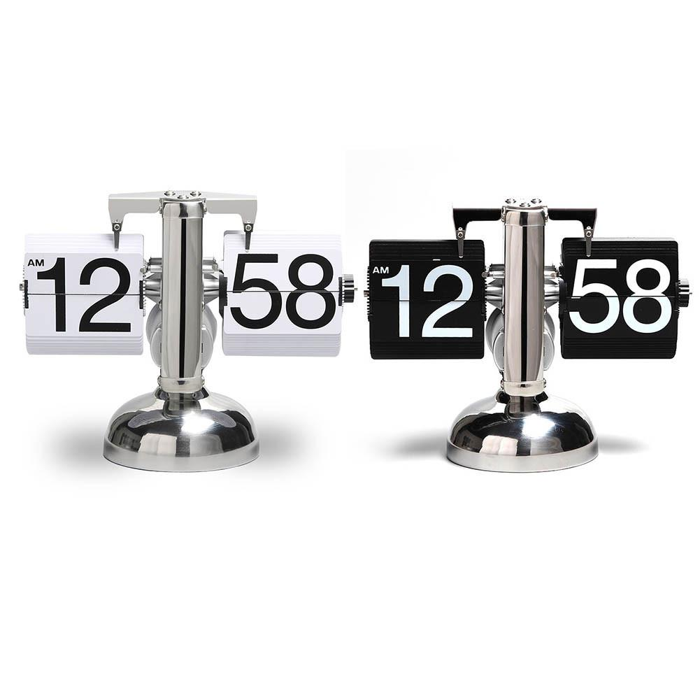 Innovative Balance Single Foot Clock Living Room Study Desk Clock Decoration Home Automatic Flip Page Clock Retro Ornaments#T