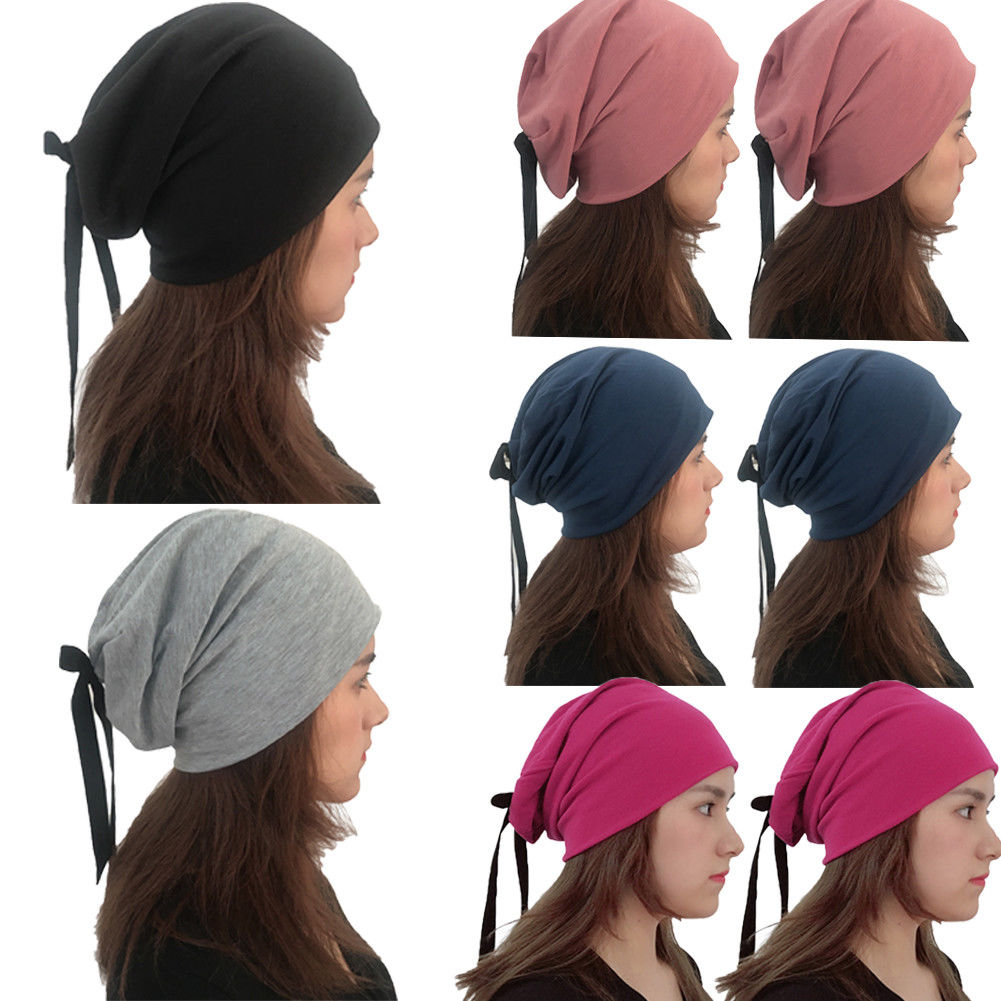 New Women Warm Turban Hat Winter Fashion Solid Bow Cap Hip-hop Knitted Wooly  Beanie Caps Women s Casual Hats f8e6ab4ca3f