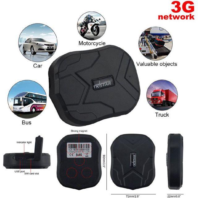 À prova d' água 3G Carro Rastreador GPS Veículo Localizador GPS TKSTAR TK905-3G 5000 mAh 90 Dias de Espera Ímã Voz Monitor de Livre web APP