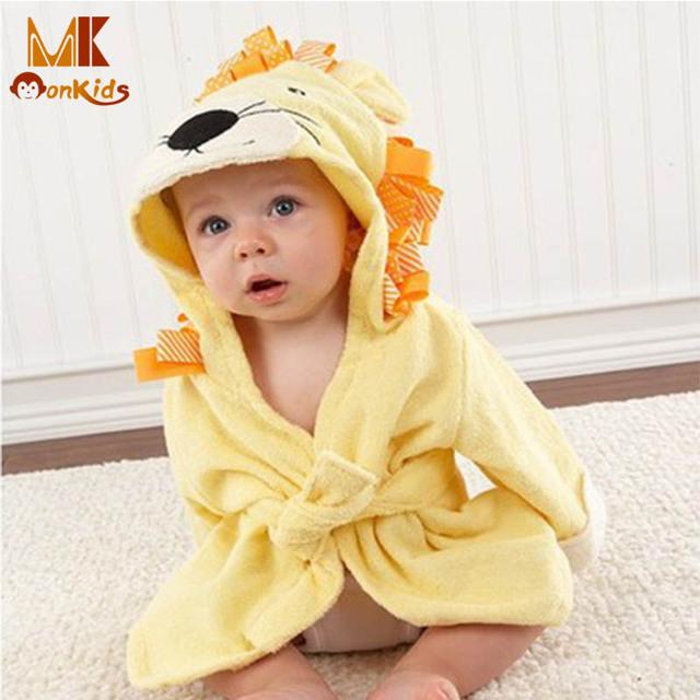 Monkids Multicolor 43x25 CM Toalha Com Capuz Roupão de Banho Do Bebê Dos Desenhos Animados Do Bebê Toalha Infantil Toalha de Banho Do Bebê Manto Bebê confortável
