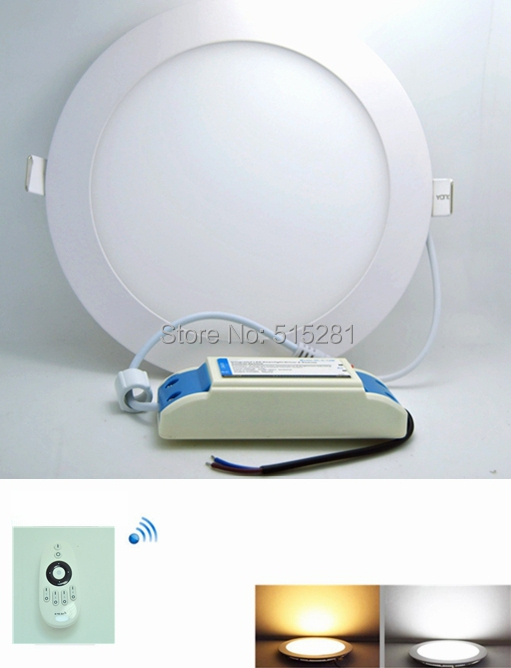 ФОТО 2.4G Dimmable Ultrathin Led Panel Light Led Ceiling Lamp Led Downlight AC85-265v 12W Round White/Warm White  10pcs/lot