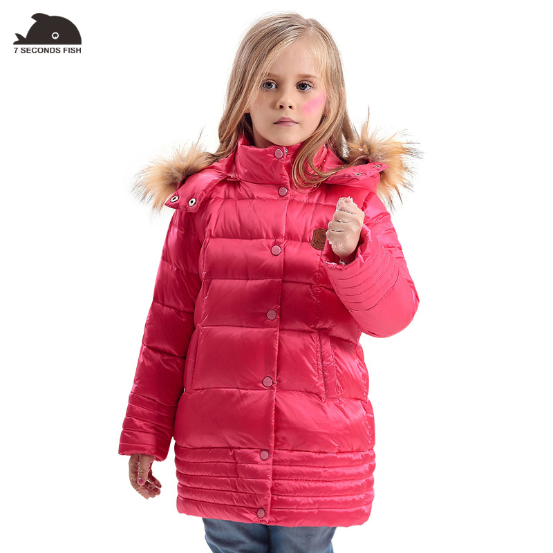Girl Coats Winter Jackets Kids Outwear Thick Warm Down Jacket Girls Clothes Parkas Children Baby Girls feather jacket down winter jacket for girls thickening long coats big children s clothing 2017 girl s jacket outwear 5 14 year
