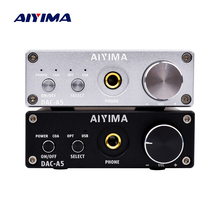 hot deal buy aiyima mini amp portable headphone hifi aux amplifiers tpa6120 pc-usb dac decoder audio headset amplificador with volume control