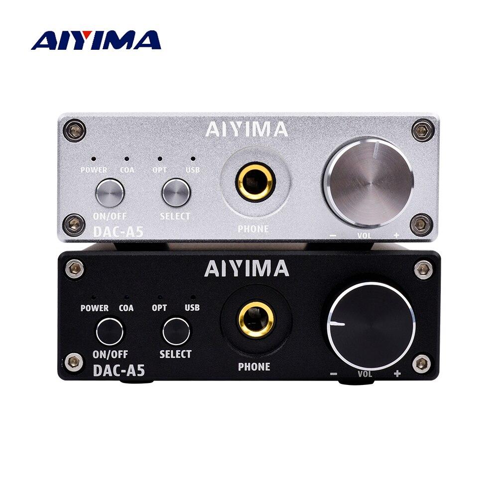 AIYIMA Mini Amplificatore Per Cuffie Portatile HiFi AUX Amplificatori TPA6120 PC-USB DAC Decoder Audio Auricolare Amplificador Con Controllo Del Volume