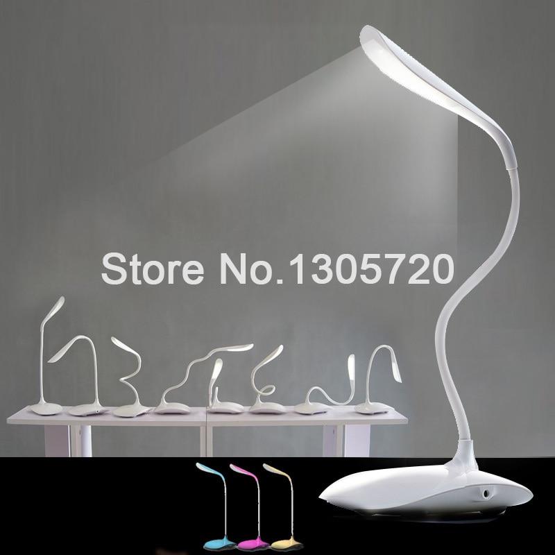 2015HOT 4 couleurs lampes de chevet Flexible lampe de bureau tactile ON OFF LED lampe de 5 Nouveau Lampe Chevet Led Sjd8