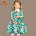 Monkids 2016 Kids Dresses Elegant Style For Girls Princess Children's Costumes Girls Dress Long Sleeves Girls Clothes Clothing