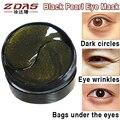60 unids Ojos Máscaras negro perla máscara de ojo del Colágeno antiarrugas parche de dormir bolsas ojeras remover gel de oro Suero Cuidado de La Piel
