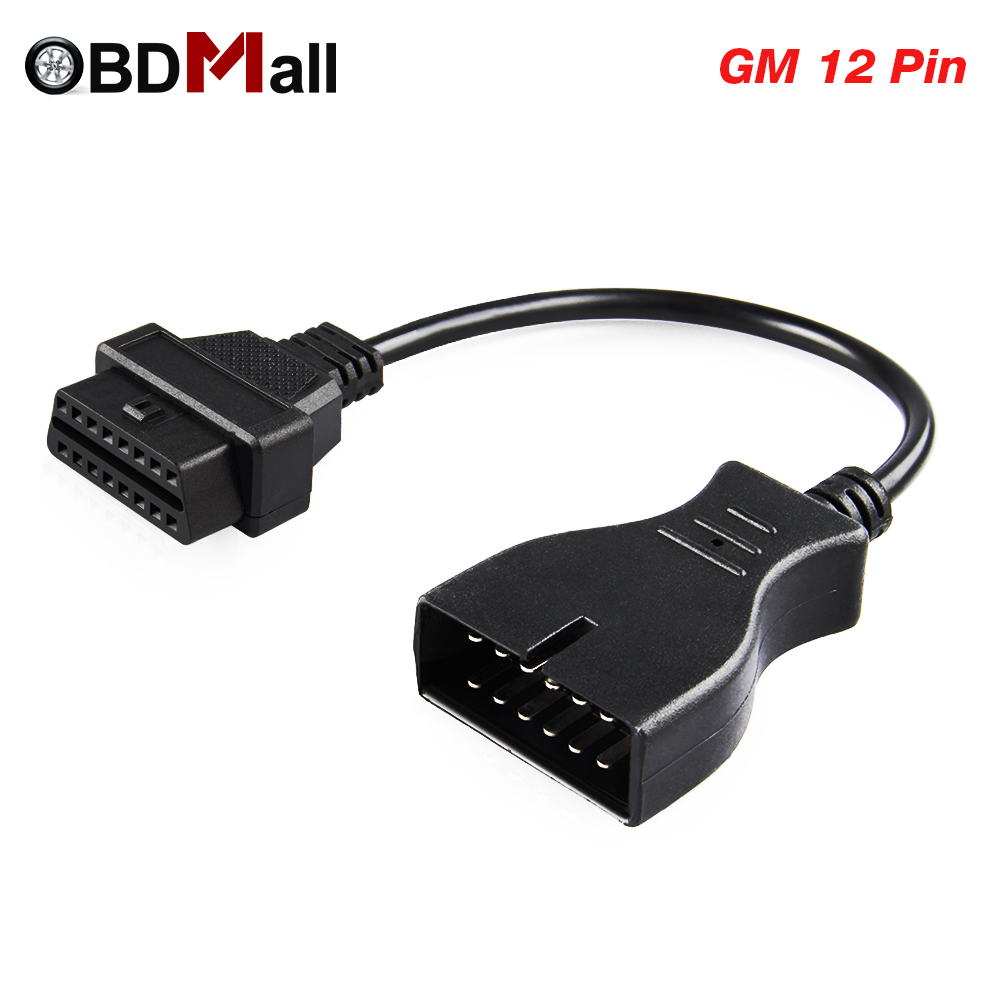 2019 Newest OBDII OBD 2 Connector <font><b>Adapter</b></font> for GM <font><b>12</b></font> <font><b>Pin</b></font> GM12 to <font><b>16</b></font> <font><b>Pin</b></font> Auto Diagnostic Cable For GM Vehicles autoscanner <font><b>adapter</b></font> image