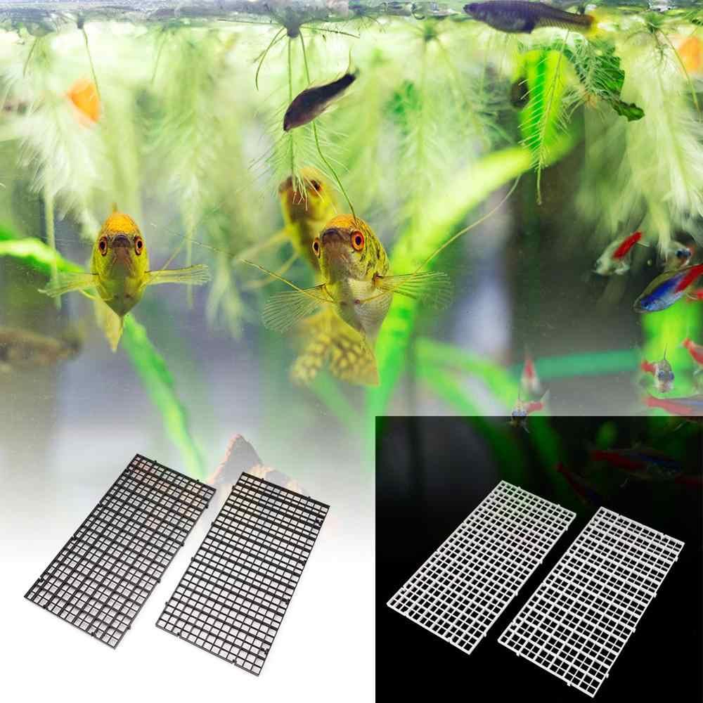 2 stücke grid teiler fach ei kiste louvre aquarium aquarium boden isolieren
