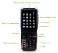 3.5 Inch Touch Screen Black Color Android PDA Terminal with NFC RFID Reader, 1D Barcode Scanner WIFI,3G