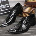 Fashion Brand High Quality Genuine Leather Men Dress Shoes Business Men Oxfords Black Bullock Brogues For Men Lace Up Shoes